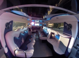 White Hummer Limo for weddings in Swindon